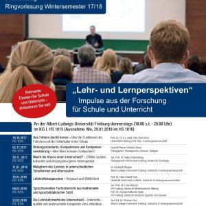 Poster Ringvorlesung Wintersemester 2017/18