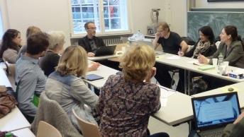 Teilnehmerinnen und Teilnehmer des Meet-The-Expert-Treffens
