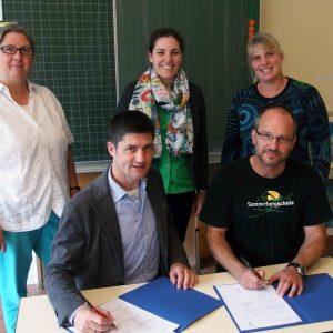 Vertragsunterzeichnung mit der Hochschulpartnerschule Buchenbach