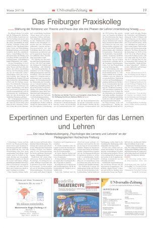 """Artikel in der UNIversalis-Zeitung """"Das Freiburger Praxiskolleg"""""""