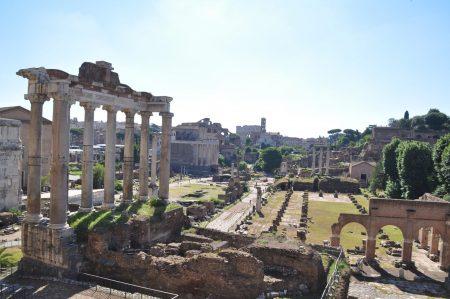 Das Forum Romanum, ein Wahrzeichen der