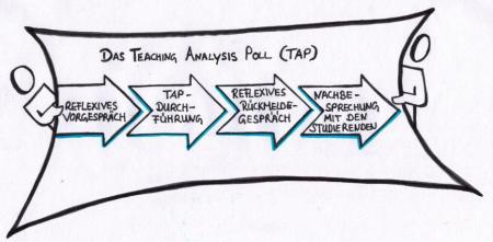 Graphik zum Teaching Analysis Poll (TAP) in der Lehrwerkstatt Lehrerbildung