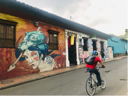 Street Art in La Candelaria, historisches Stadtzentrum