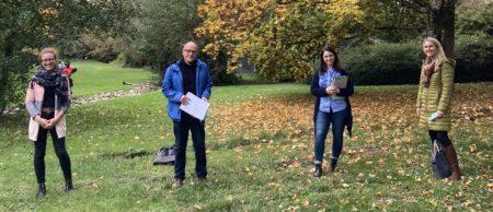 Die Antragsteller und Projektkoordinatoren der PH Freiburg (von links): Dr. Katharina Hellmann, Prof. Dr. Hans-Georg Kotthoff, Dr. Verena Bodenbender, Jun.-Prof. Dr. Katja Zaki